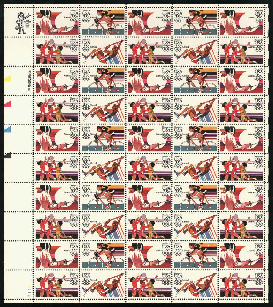 Scott C-109-112 Sheet (35 cents) <p> <a href=\&quot;/images/USA-Scott-C-109-112-Sheet.jpg\&quot;><font color=green><b>View the image</a></b></font>