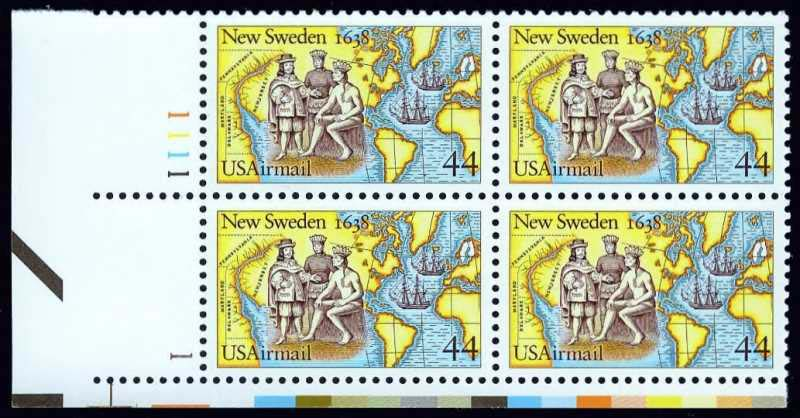 "Scott C-117 Plate Block (44 cents) <p> <a href=""/images/USA-Scott-C-117-PB.jpg""><font color=green><b>View the image</a></b></font>"