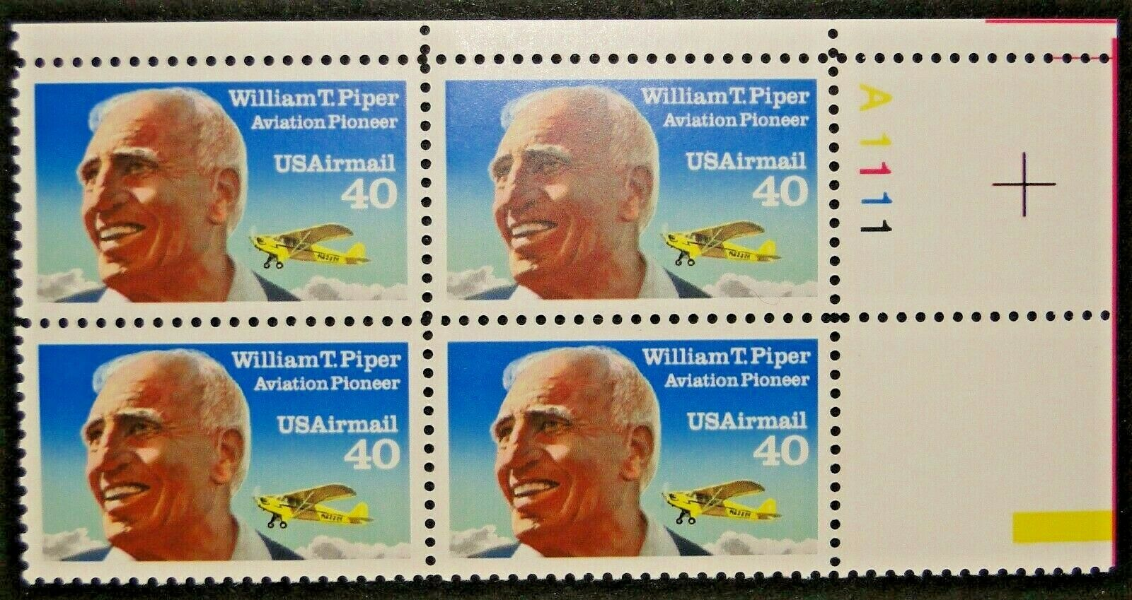 "Scott C-129 Plate Block (40 cents) <p> <a href=""/images/USA-Scott-C-129-PB.jpg""><font color=green><b>View the image</a></b></font>"